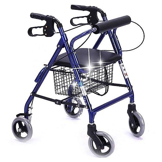 Andador con ruedas plegable con asiento, andadores médicos de edad ...