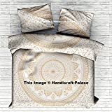 Gold Ombre Mandala Indian mandala Duvet Cover Queen Quilt Cover Bedding Donna Cover With 2 Pillows Beautiful Exclusive By Handicraft-Palace