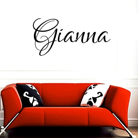 Gianna girl name boy name letters childrens room vinyl wall art sticker decal