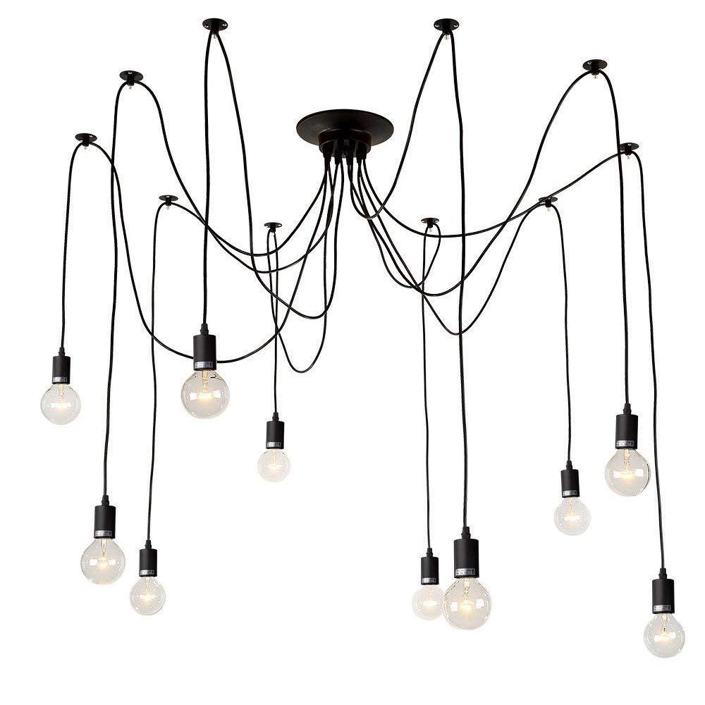 Kronleuchter,Kronleuchter,Einstellbar Modern Beleuchtung 10 Lichter Glühbirne E27 Dekoration Leuchte Schlafzimmer Cafe Studio