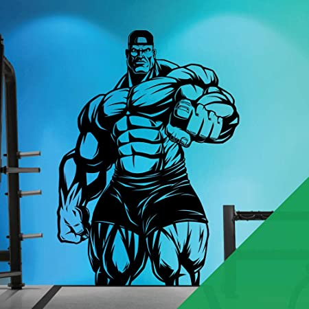 Sticker Mural Pour Salle De Gym Fitness Musculation Musculation