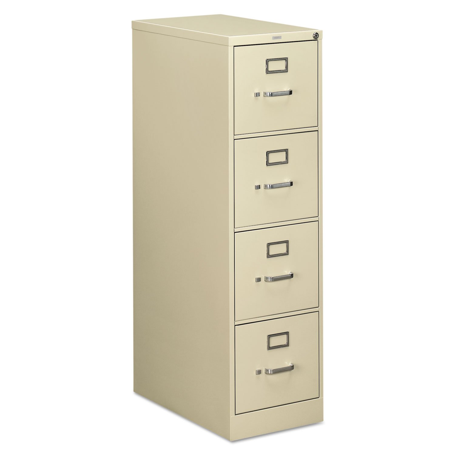 HON 514PL Vertical File With Lock - 15amp;quot; x 25amp;quot; x 52amp;quot; - Steel - 4 x File Drawer(s) - Letter - Security Lock - Putty