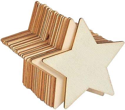 estrellas de madera para pintar