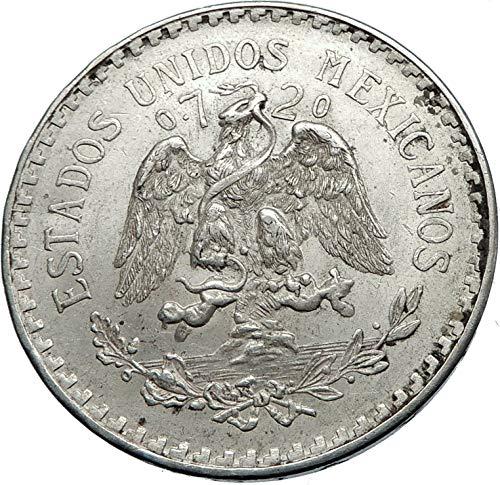 (1944 MX 1944 MEXICO - Large SILVER 1 Peso Mexican Coin - 1 Peso Good)