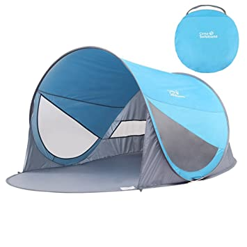 Camp Solutions UPF 50 Easy Pop Up Beach Tent Instant Sun Shelter Sunshade Baby