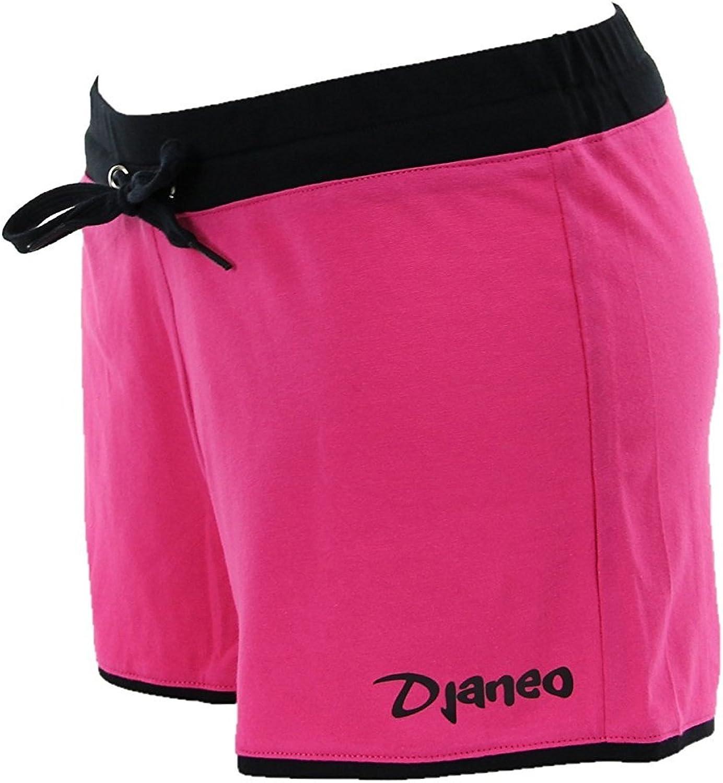 Pantalón corto de deporte para mujer Short algodon Rio Djaneo negro y rosa tamaño M: Amazon.es: Deportes y aire libre