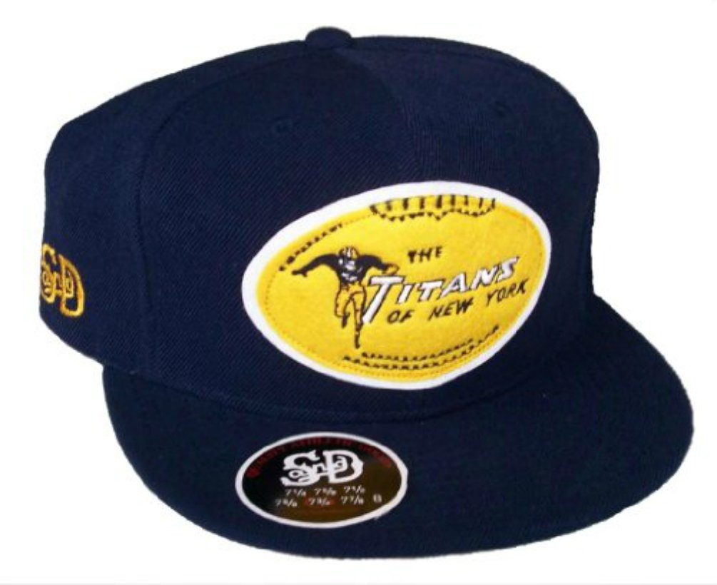 The Titans of New York Throwback JetsロゴFitted 7 3 / 8帽子キャップ   B06XTZS9GV