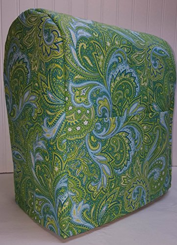Green Blue Paisley Kitchenaid Stand Mixer Cover (Lift Bowl, All Paisley) (Plus Bowl Professional Series 5)