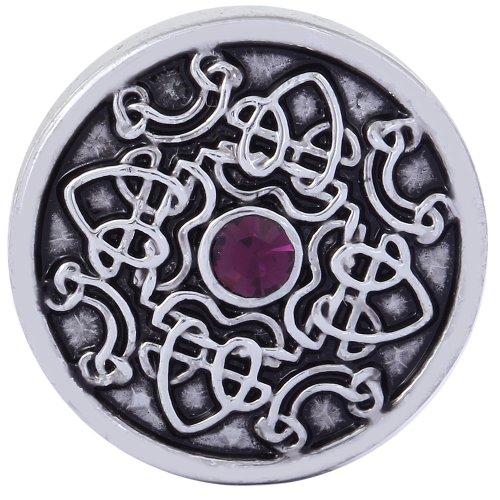Morella click-button bouton pression pour bijou femme à motifs avec pierre de zircone lilas