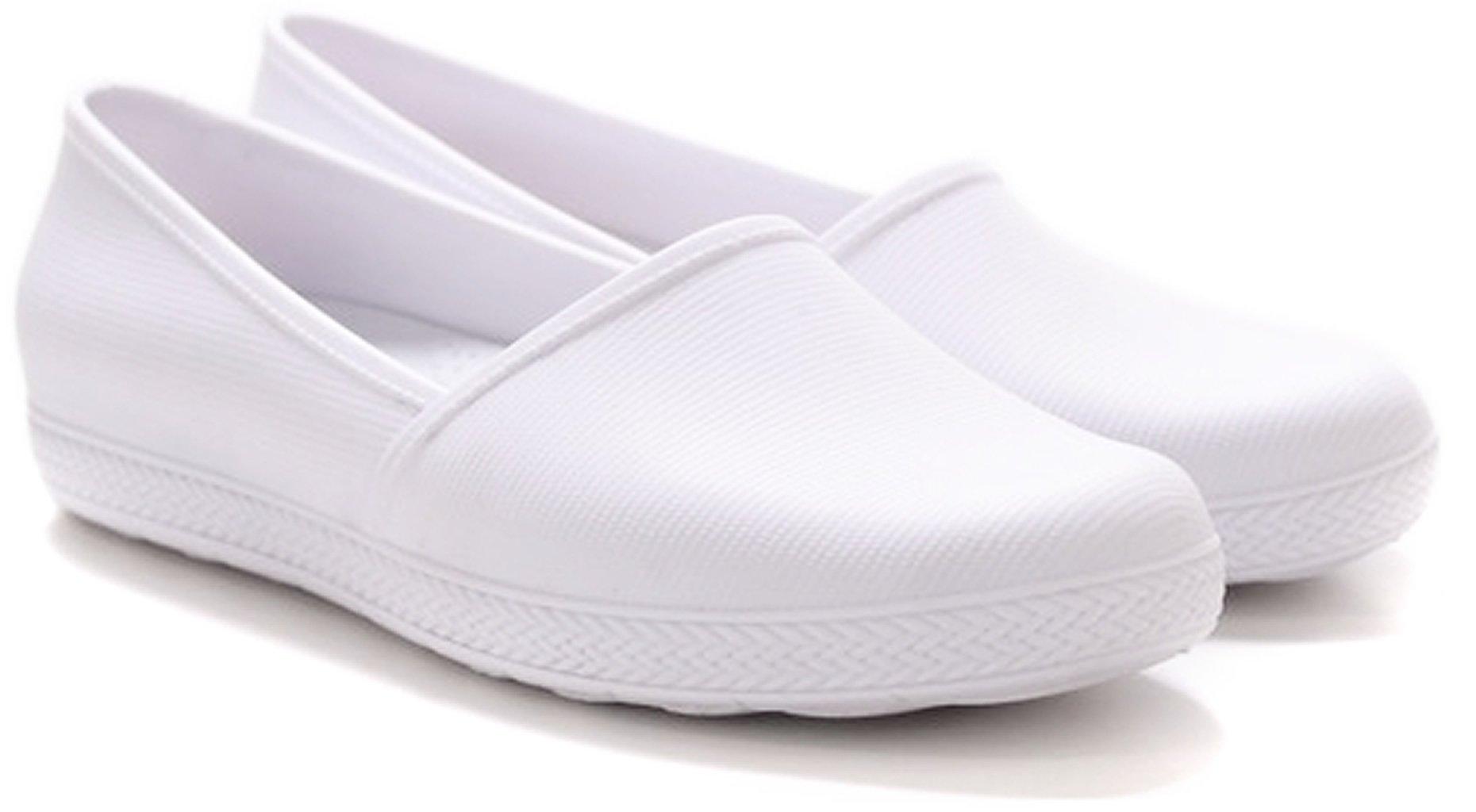 BOA ONDA Milena Women's Waterproof Flat - Keep Nursing (7, White)