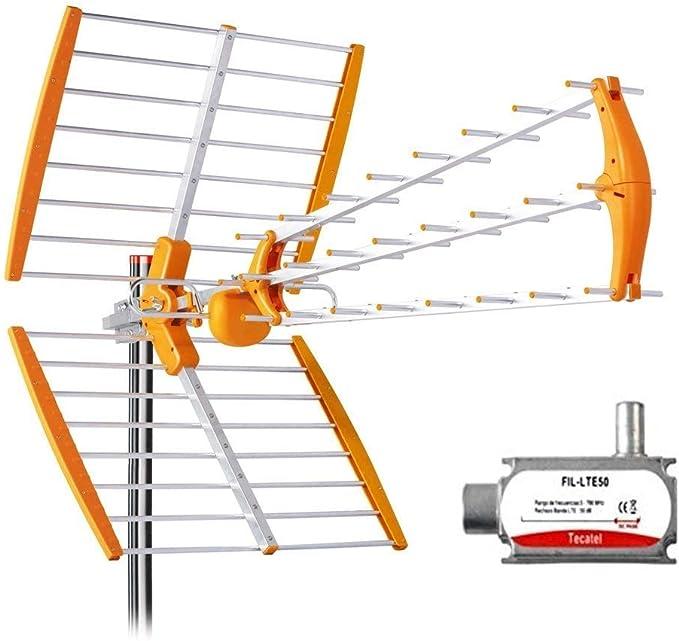 Tecatel - Antena Mandarine Triple Plegable UHF G=18 dB LTE + ...