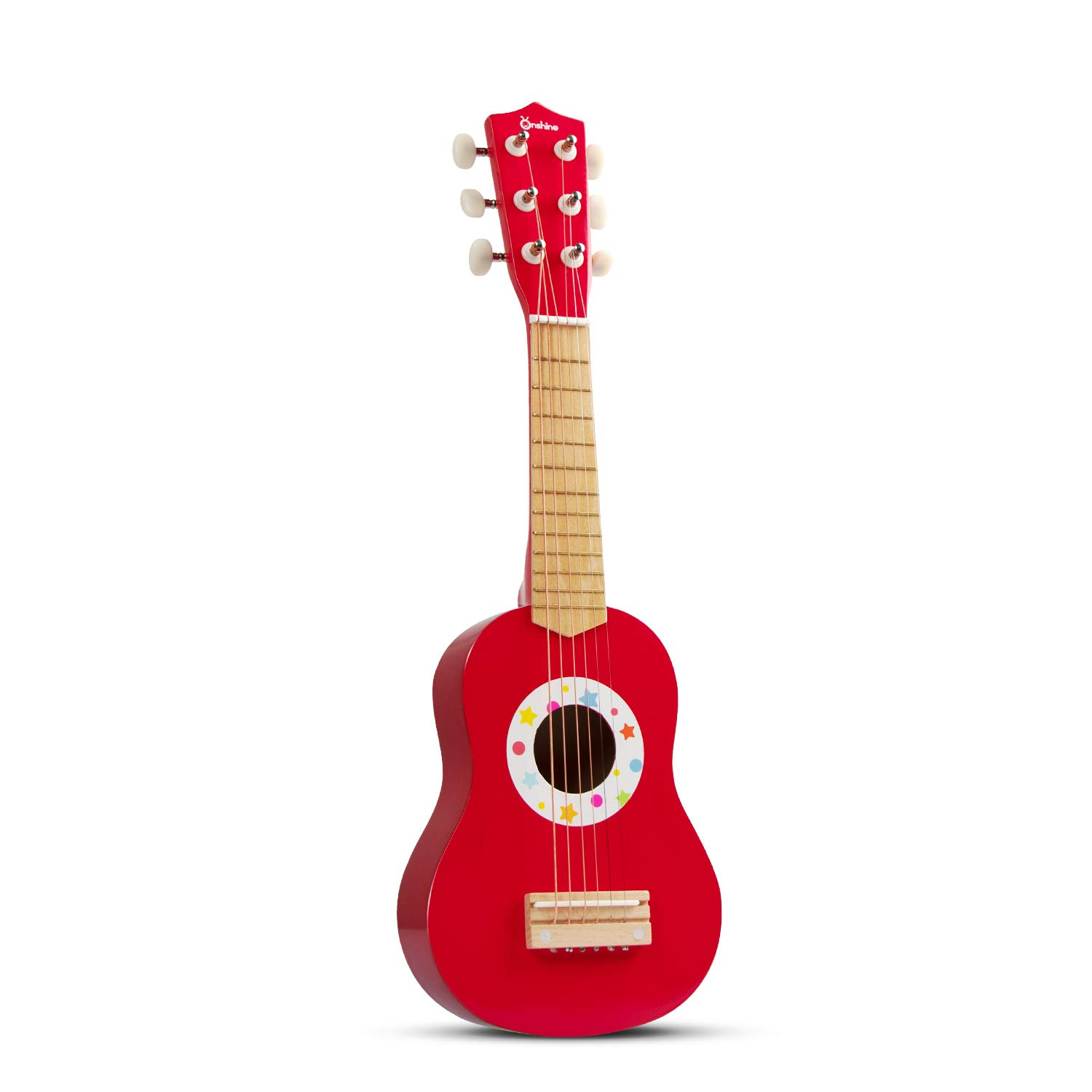 AIMEDYOU 21'' Kids Ukulele Guitar Toy 6 Strings Mini Guitar Children Musical Instruments Educational Learning Toys with Picks and Strap for Toddler Kids Boys Girls Beginner Starter (Red) by AIMEDYOU