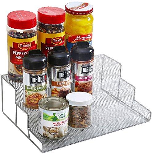"""Ybm Home 3 Tier Spice Rack Step Shelf Organizer Size 11.75""""Lx 8.25""""Wx 4""""H #2317 (1)"""