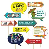 Let's Fiesta,Mexican Fiesta Party Photo Booth Props,10 Piece