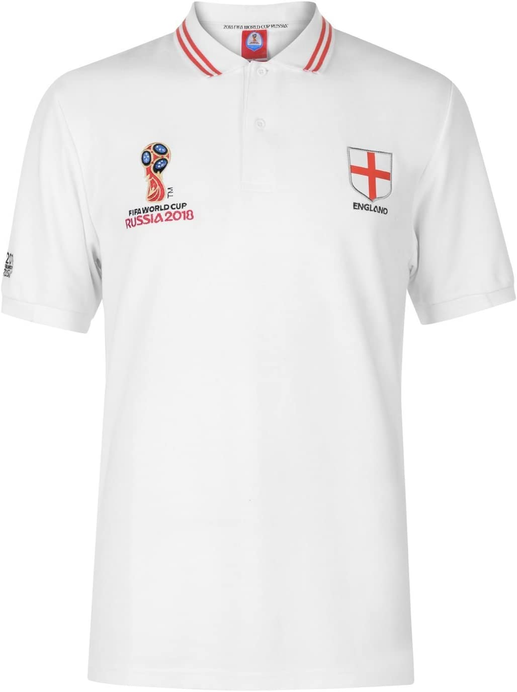 FIFA World Cup 2018 - Polo de Inglaterra para Hombre, Color Blanco ...