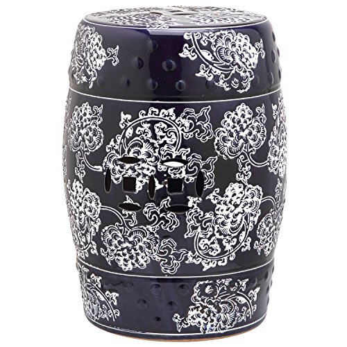Safavieh ACS4547A Castle Collection Midnight Flower Glazed