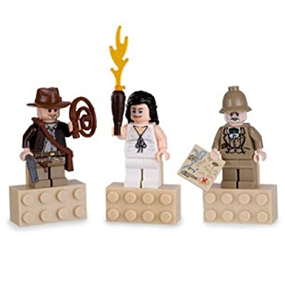 Lego Indiana Jones Mini Figure Exclusive Magnet 3pc Set Jones, Marion, and Professor Henry: Everything Else
