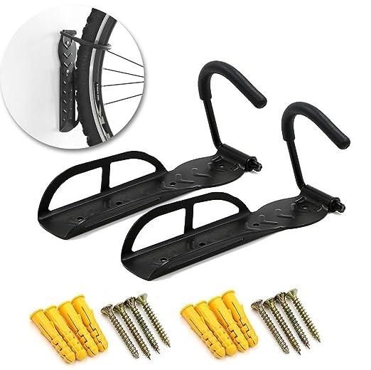 Para colgar bicicleta Rack - 4 piezas resistentes de acero sólido ...