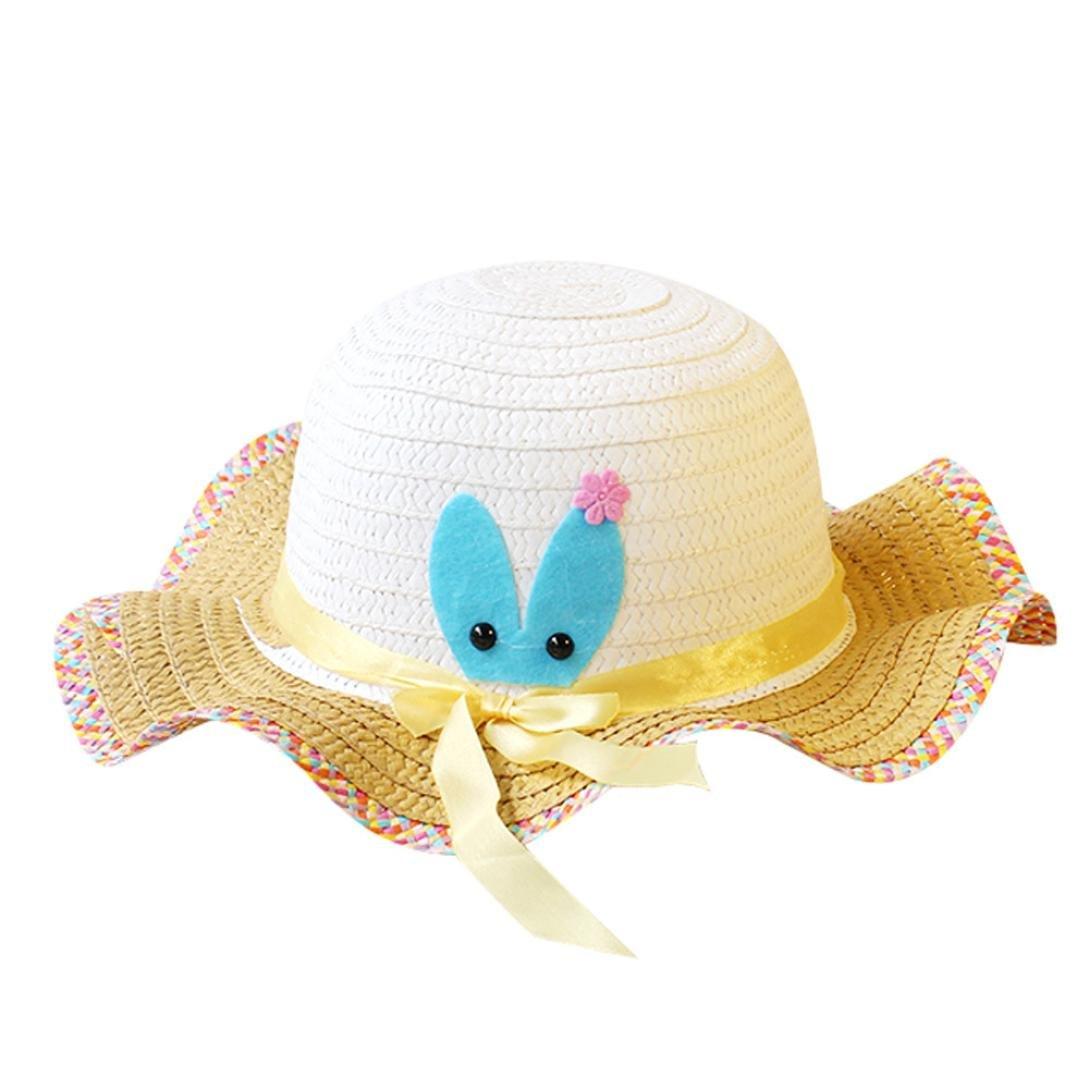 bobo4818 Sonnenhut MäDchen, Sommer Baby Cartoon Kinder Hut Strohhut Kinder Hut
