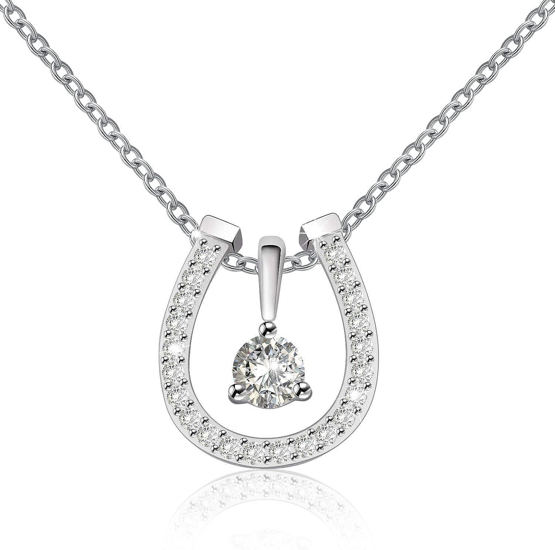 Horseshoe Necklace gold Horseshoe Pendant necklace Silver horseshoe Lucky charm necklace horseshoe jewelry minimalist necklace