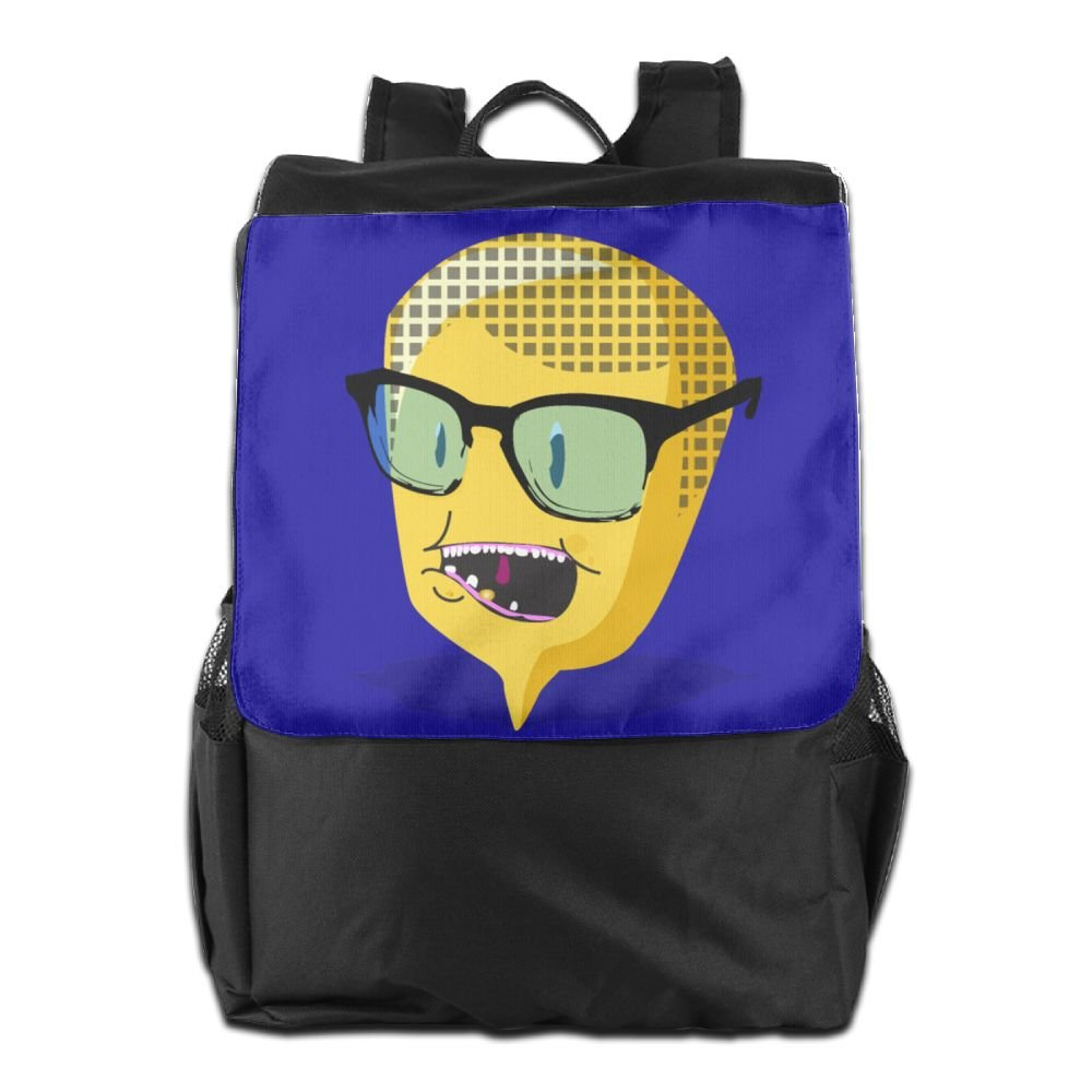chic Believe Ddspp Cartoon Corn Head With Glasses Outdoor Backpack Rucksack Travel Bag