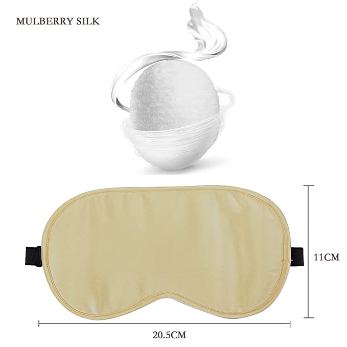 weitinena marca Natural 100% Seda Máscara de Dormir & venda, extra suave ojo máscara (una correa): Amazon.es: Salud y cuidado personal