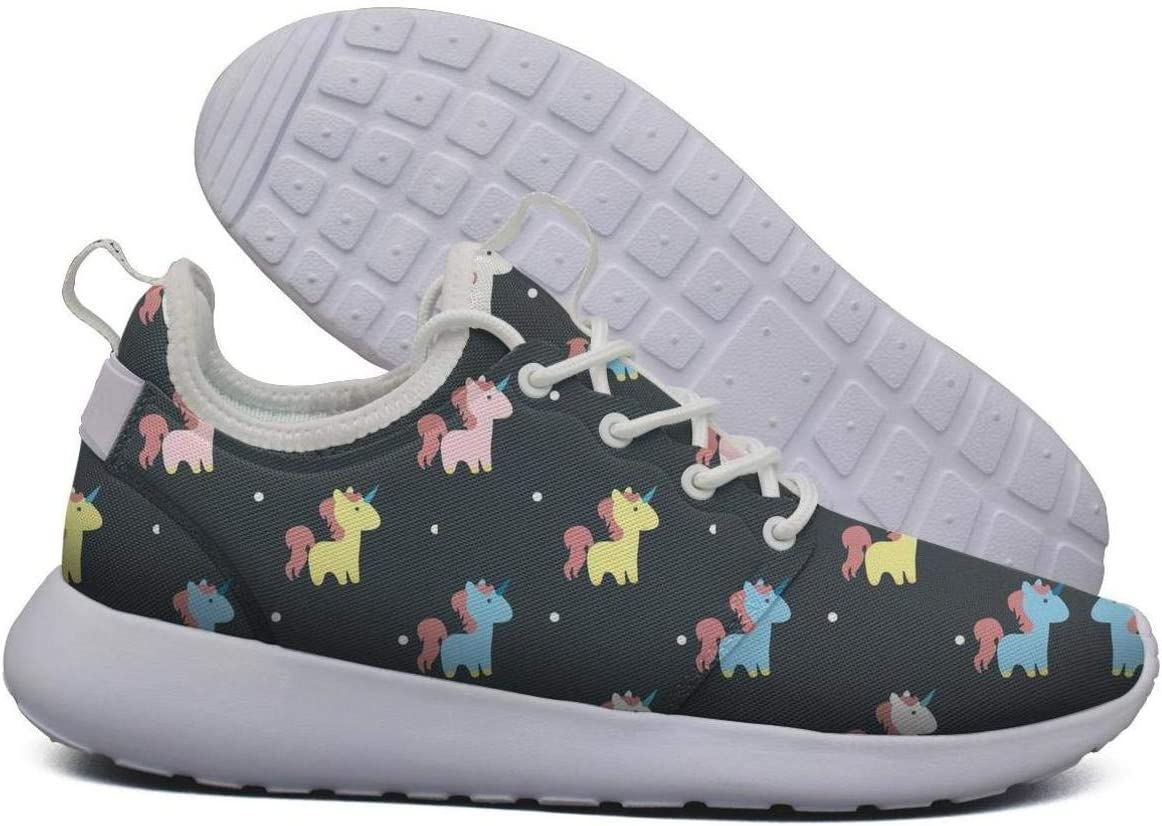 SKULLP Narwhal Unicorn Wallpaper Zapatillas de Running para Mujer, Transpirables, Color Blanco: Amazon.es: Deportes y aire libre