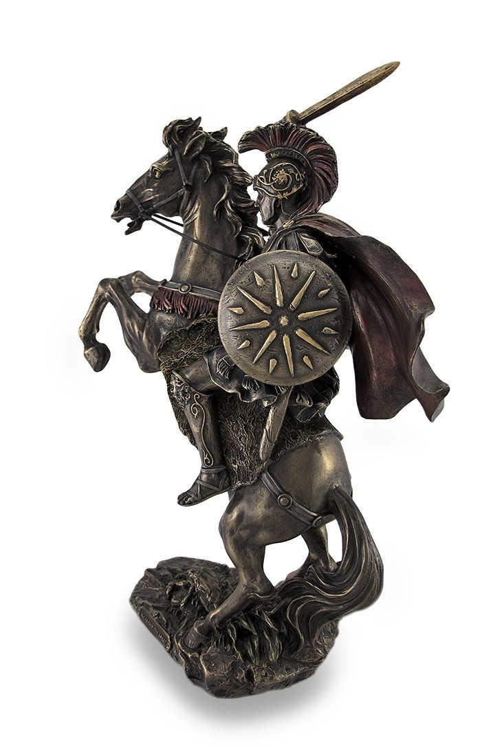 Veronese Design Alexander The Great Riding Bucephalus Bronzed Sculptural Statue