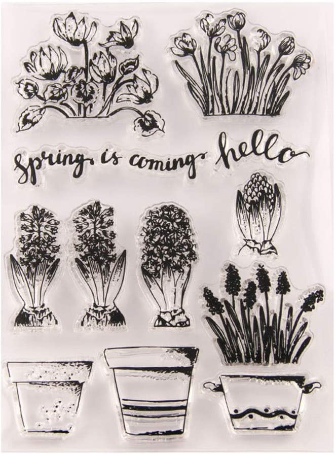 Hyacinth Flowers Stamp Rubber Clear Stamp/Seal Scrapbook/Photo Album Decorative Card Making Clear Stamps