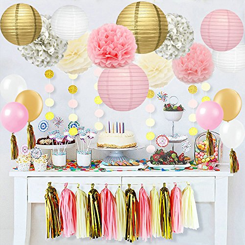 40-pc-Ivory-Pink-and-Gold-Party-Decorations
