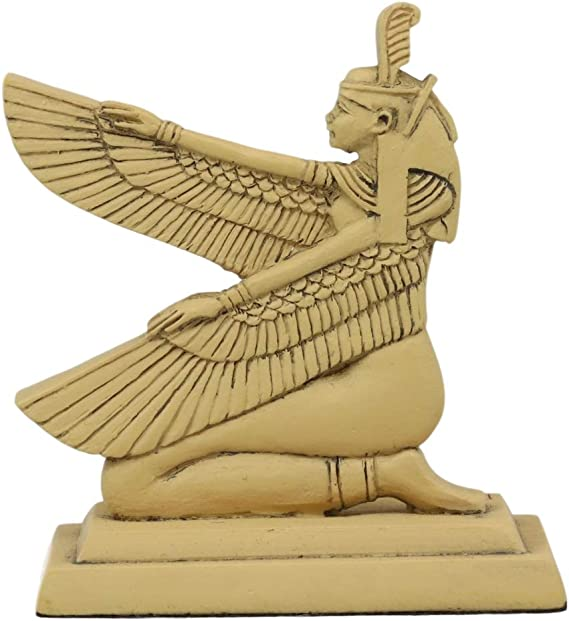 Egyptian Winged Goddesses Vase Art Deco Home Accent Sculpture