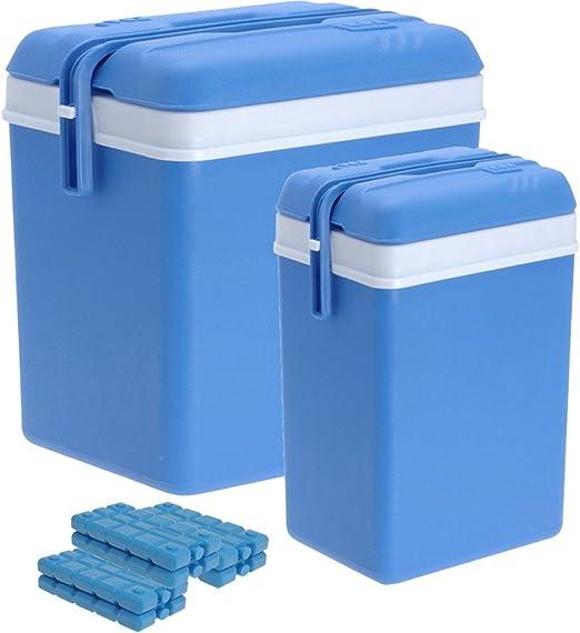 ToCi Nevera portátil grande (35 litros) y pequeña (12 litros) con 6 acumuladores.