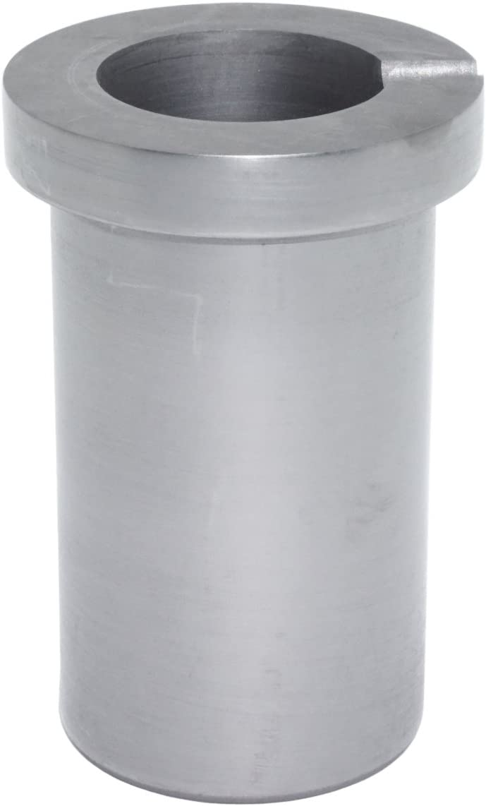 loweyuiroy Graphite Melting Crucible with Lid High Purity Graphite Melting Crucible Cup for Melting Gold Silver Copper Brass