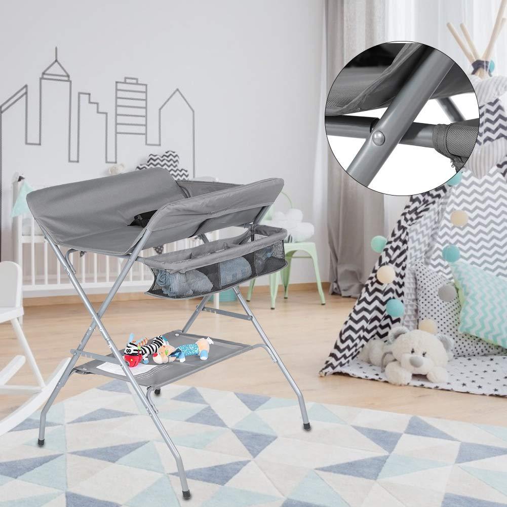 fasciatoio per neonati con cestello portaoggetti fasciatoio per neonato Fasciatoio regolabile in altezza pieghevole impermeabile
