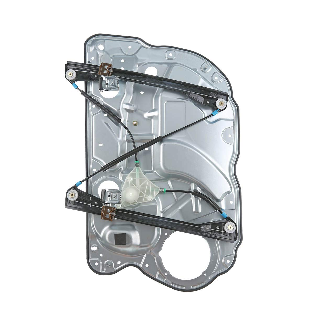 Electric Window Regulator with Metal Plate Without Motor Front Left for Polo 9N 4//5 Door 2001//10-2009//11