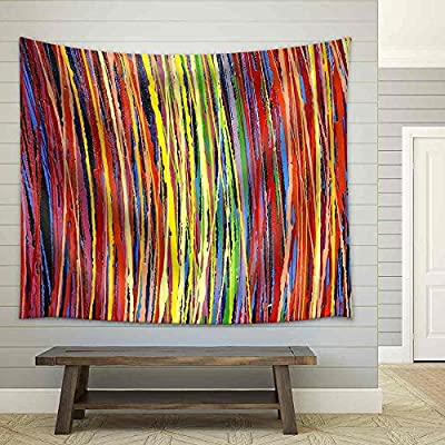 Made With Top Quality, Amazing Work of Art, Stripe Pattern Paint Oil Colors Fabric Wall