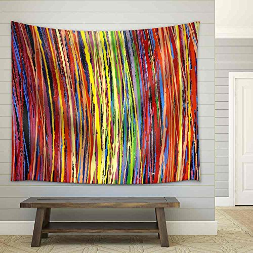Stripe Pattern Paint Oil Colors Fabric Wall
