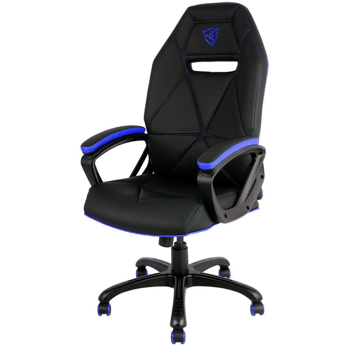 Thunder X3 Aerocool Pro Gaming Chair Tgc10 Black Blue, Faux Leather, Black/Blue TGC10-BB-UK