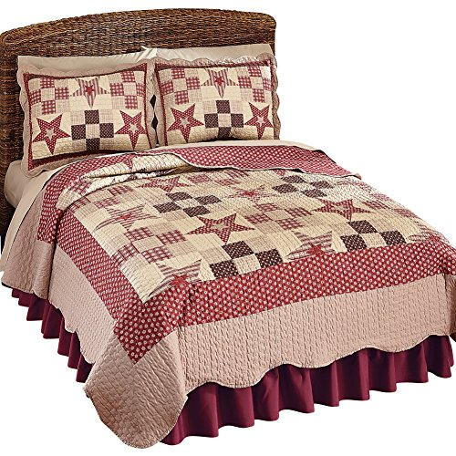 Checkered Patchwork Reversible Lightweight Burgundy