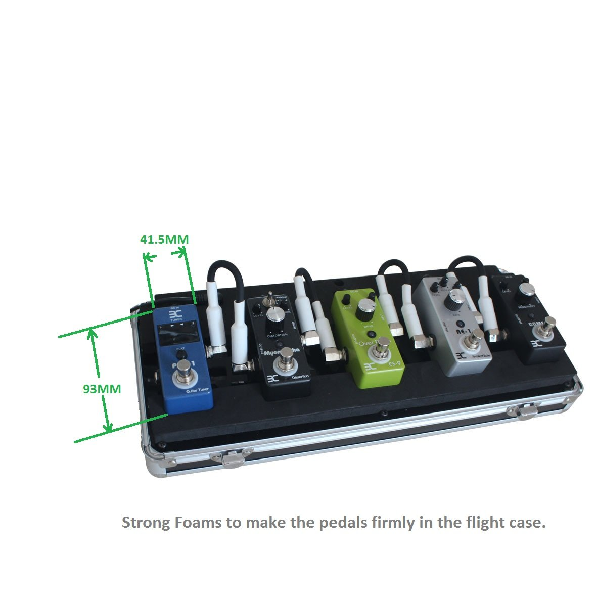 ENO EX QQ Case 5-Pedal Pedalboard/Electronic Guitar Effects Pedals Flight Case by Effects Pedals Flight Case (Image #6)