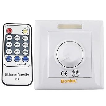 Bonlux Led Dimmer Regulador de intensidad Led 220V, con controlador remoto mando IR de 14