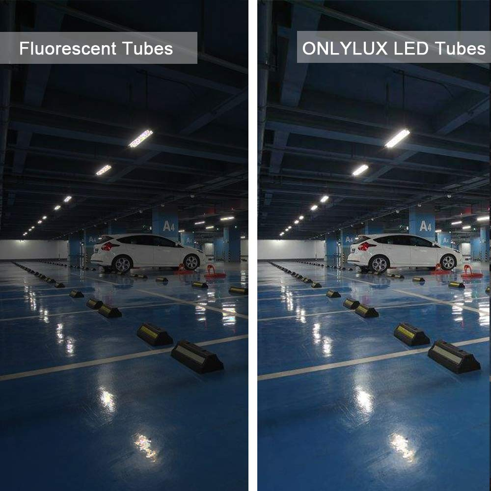 ETL T8 T12 LED 8ft Tube Light F96T8 F96T12 LED Bulb 96'' FA8 Single Pin LED Fluorescent Replacement, ONLYLUX (100W Fluorescent Equivalent), AC85-277V, 6500K CW Daylight Milky Cover, 10 Pack by ONLYLUX (Image #7)