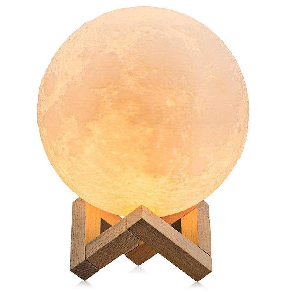 taohorse調光機能付きLED Moonlightランプタッチ制御され夜ライトwith木製スタンド、3色変更 B07CXT9ZD7、充電式Lunaムーンライトランプキッズベッドルームホーム装飾ノベルティギフト5.9インチ B07CXT9ZD7, ナカハラク:24f9119f --- ijpba.info