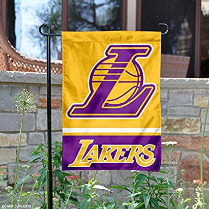 9a11b1741bb Amazon.com   Wincraft Los Angeles Lakers Double Sided Garden Flag ...
