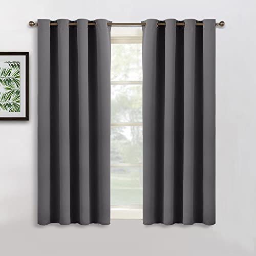 pony dance grey blackout curtain 52 width x 54 depth grey - Short Curtains For Bedroom