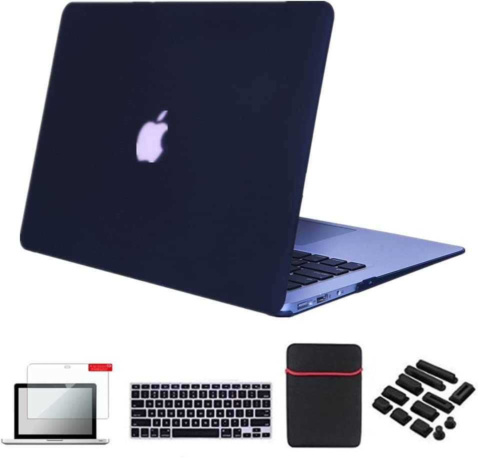 Se7enline MacBook Air Case Cover 5 in 1 Bundle Soft-Touch Plastic Hard Case Cover for MacBook Air 13.3