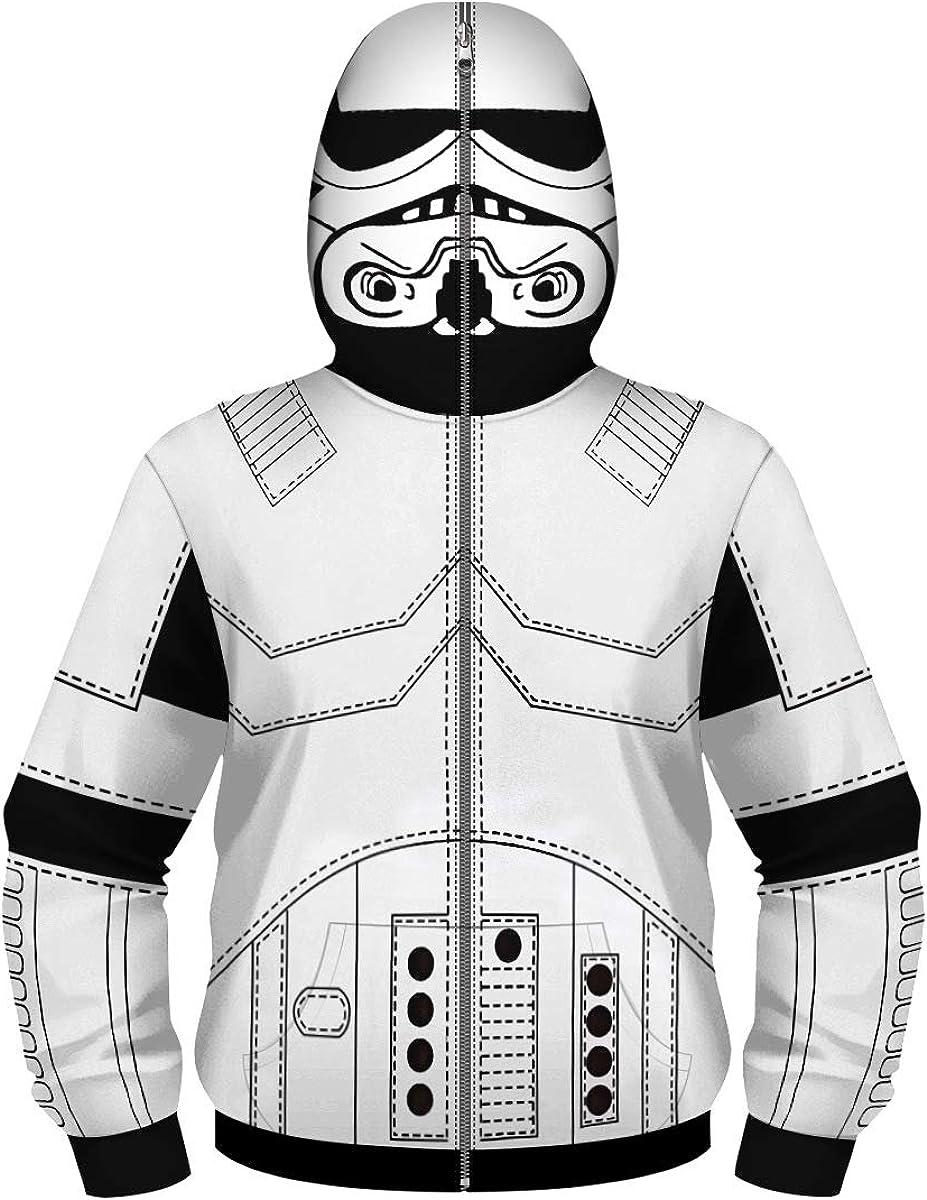 Star Wars I Am Stormtrooper Costume Zipped Mask Zip Up Hoodie
