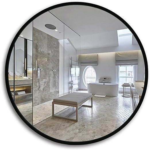 Espejo de baño Redondo, baño de Marco de Madera, Fregadero de ...