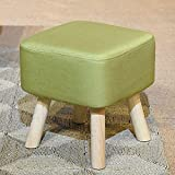 AI Shoe Stool, 4-Foot Solid Wood Stool, Sofa Bench, Fitting Room Stool, Footrest, 4 Colors, H: 42cm (Color : Green)