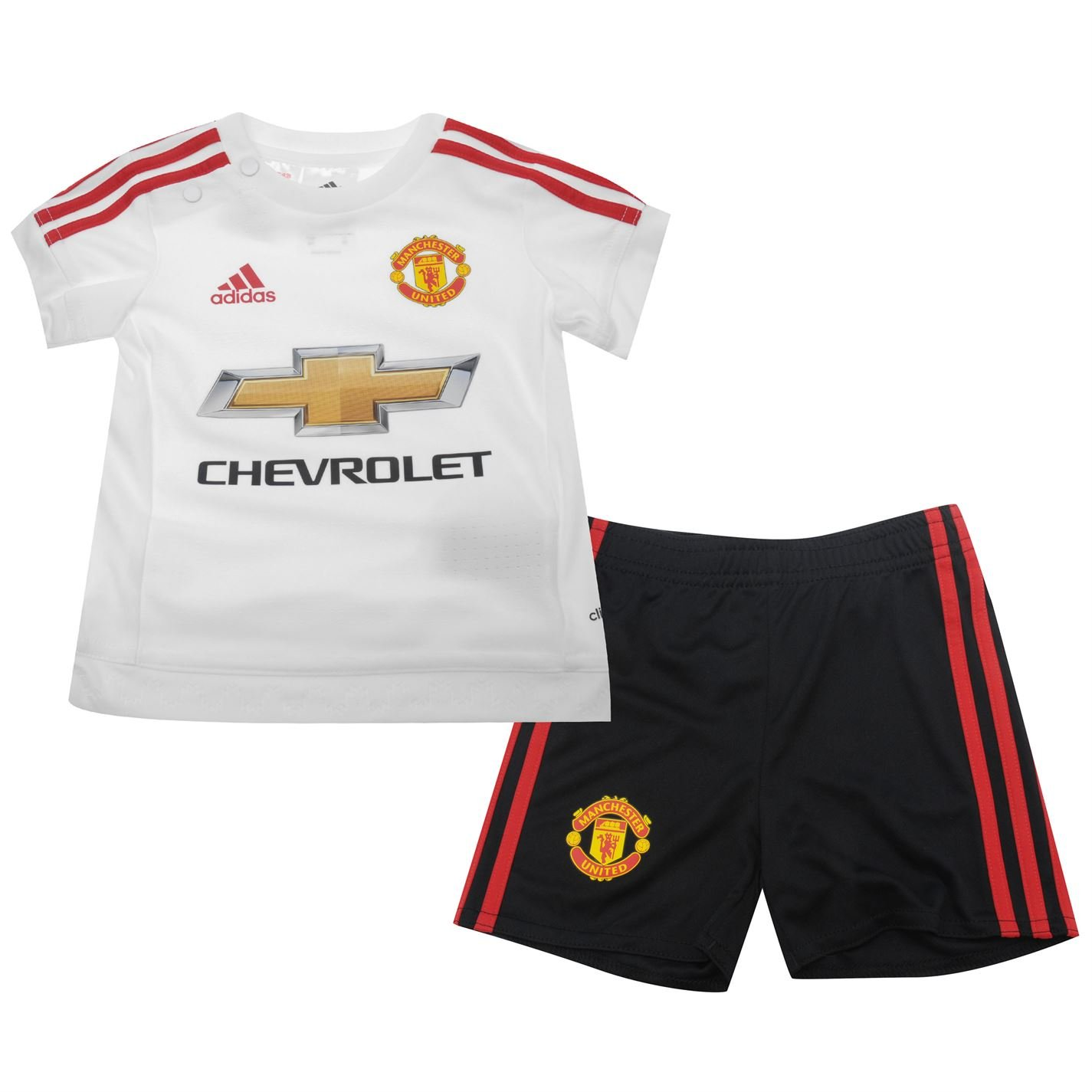 on sale e3f4f baf53 Manchester United FC Baby Football Kit Away Short Sleeve ...